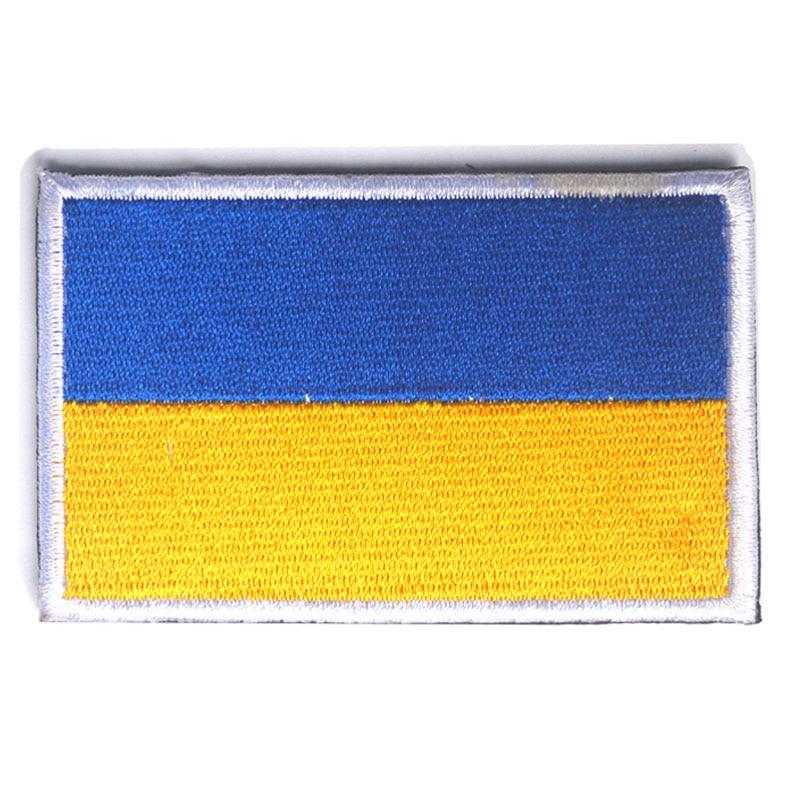 2 pçs set Emblema Bordado Bandeira Nacional Da Ucrânia Ucraniano Militar 3D  Bordado chapéu Tático Gancho E Loop Patches remendo da bandeira dc83ad2b414
