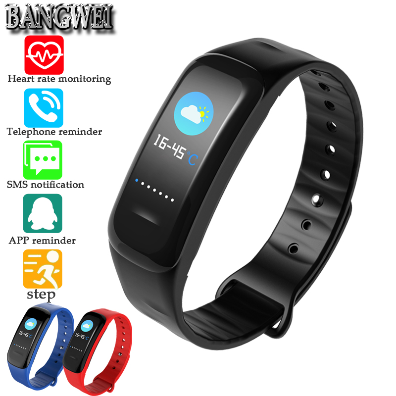 Aufrichtig Bangwei Smart Armband Fitness Tracker Schritt Zähler Aktivität Monitor Band Wecker Vibration Armband Ios Android Telefon App