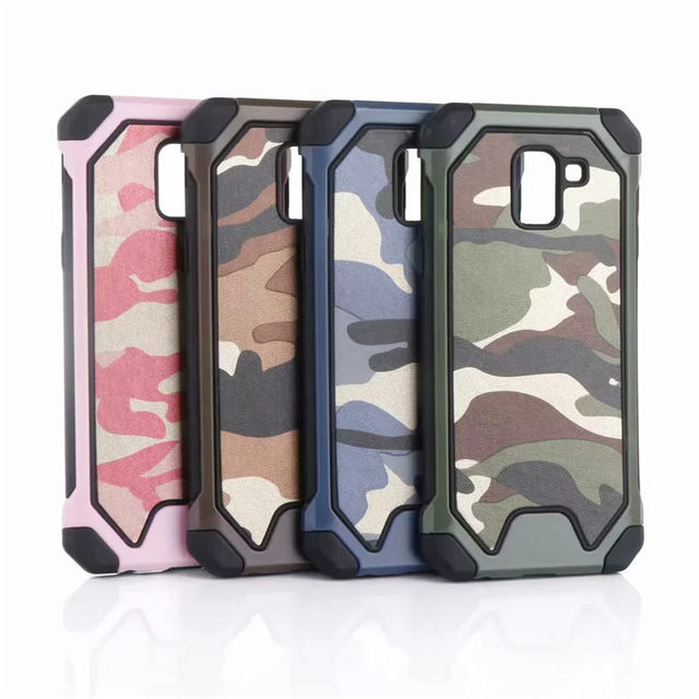 cheap for discount 5b111 e09f6 US $1.99 20% OFF|Camo shockproof Case For Samsung Galaxy A6 Plus J4 J6 2018  Note 9 Armor protective Camouflage Pattern Hard Plastic back cover-in ...