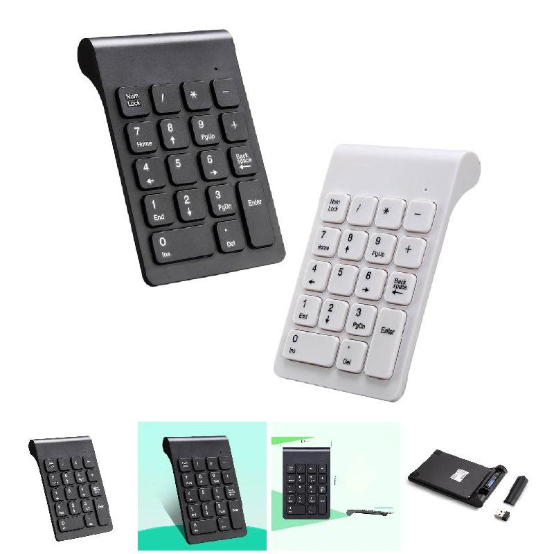 New Portable 2.4G Wireless Digital Keyboard USB Number Pad 18 Keys Mini Numeric Keypad For Laptop PC Notebook Desktop S