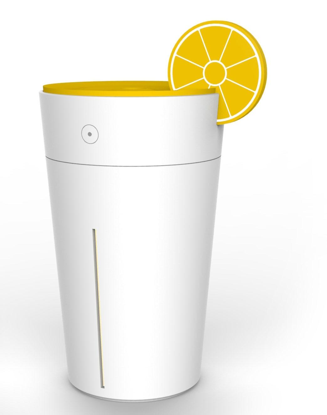 New Arrival Mini Lemon Ultrasonic Humidifier  Home Office USB Aroma Diffuser Creative Lemon Led Light Aromatherapy Mist Maker