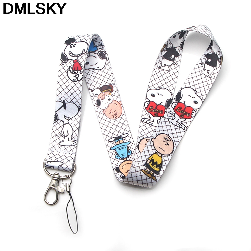 DMLSKY Cute Dog Lanyard Phone Rope Keychains Phone Lanyard for Keys ID Card kawaii Lanyards For Men Women M3285 in Key Chains from Jewelry Accessories