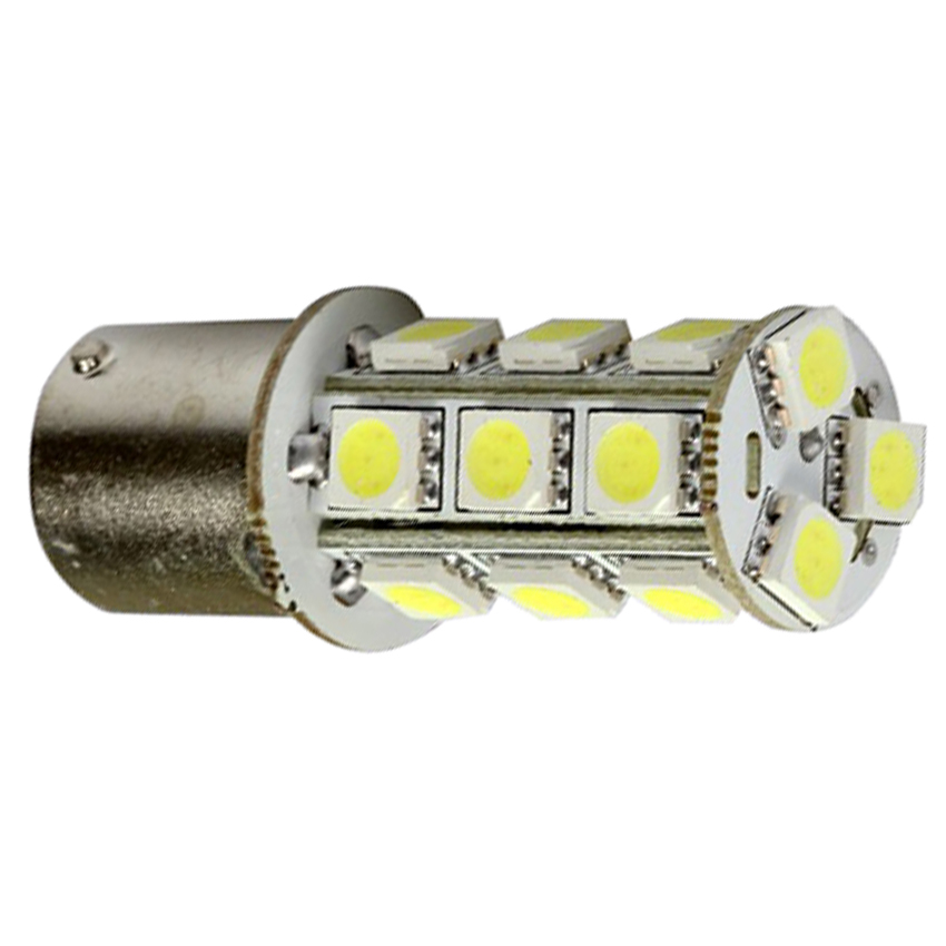 20PCS 1156 BA15S 18 LED SMD 6000K Xenon White RV Camper Trailer Inter Lamp