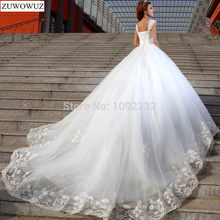 cb907f494 Stock 2017 Nuevo Más El tamaño Atractivo de las mujeres Blanco Capilla de  Encaje de Diamante Tube Top Sling vestido de novia ves.
