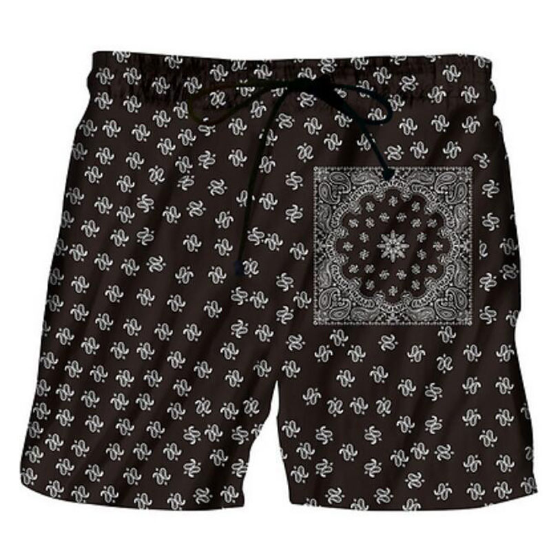 Stylish Esoteric 3D Printed Men's Beach   Shorts   2018 Summer Psychedelic Style   Board     Shorts   Trunks Mens Casual Quick Dry Swimwear