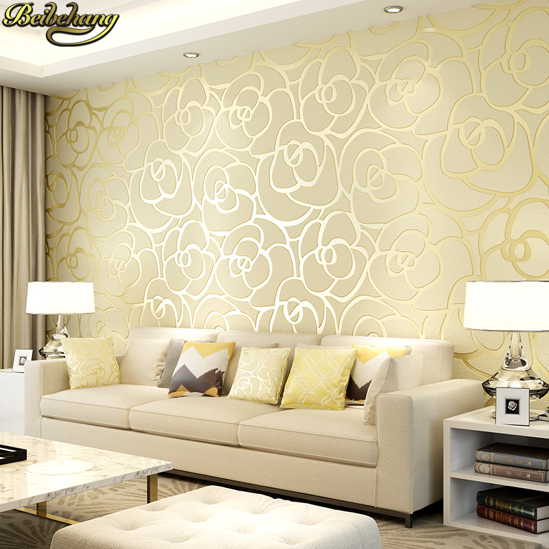 beibehang luxury European relief rose wallpaper Modern living room decoration Thicken buckskin wall paper rolls 3D flowers mural free shipping marble texture parquet flooring 3d floor home decoration self adhesive mural baby room bedroom wallpaper mural