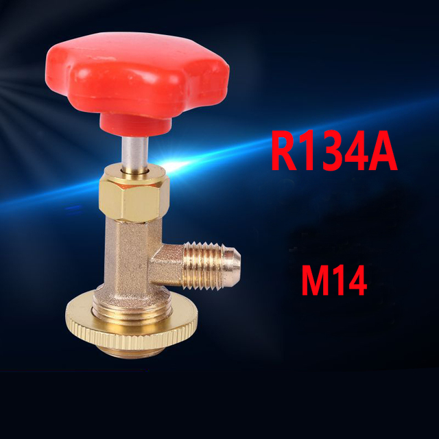 """1PC Useful Auto AC Can Tap Valve Bottle Opener For M14/1/4"""" SAE Auto R134a Air Conditioning #280003"""