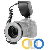 Camera Macro LED Ring Flash Light Speedlight with LCD Screen Display for Canon Nikon Sony Olympus Panasonic Pentax DSLR Cameras