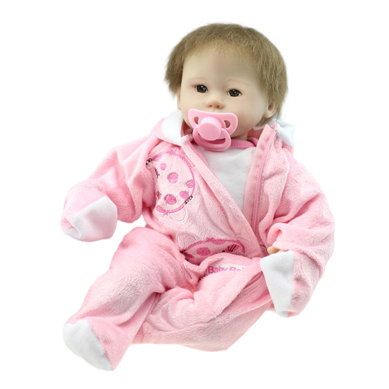 1pc Silicone Reborn Baby Dolls Open Eyes Soft Rubber To Accompany Sleep Simulation Baby Doll 42cmTangkou Silicone Newborn Dolls npkcollection55cm soft silicone newborn baby doll with eyes closed simulation to accompany sleep toys silicone reborn baby doll