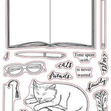 Cat прозрачный печать штампов записная книжка ясно штамп для скрапбукинга X0419