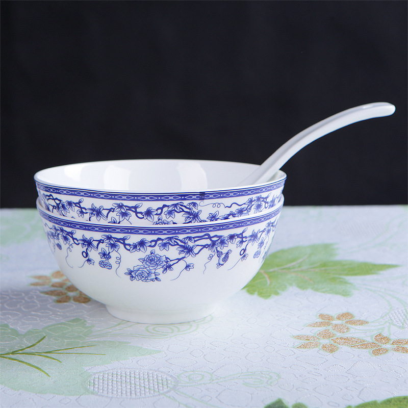 Jingdezhen Ceramic Tableware Household Tableware 56 Heads Of Chinese Blue  And White Porcelain Bowl Set Bone China In Dinnerware Sets From Home U0026  Garden On ...