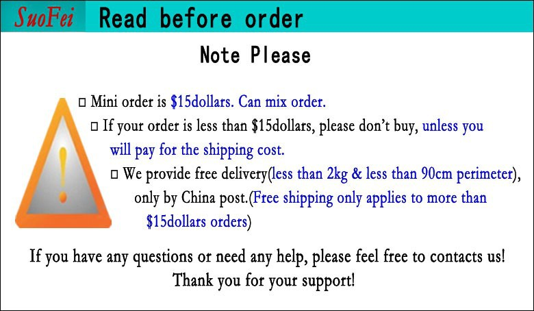 2Read before order