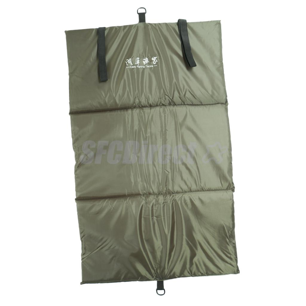 Carp Fishing Unhooking Mat Foldable Padded Landing Mat with Fold Over Straps, 94 x 59 x 2cm Weigh Sling/Mat danjue серый 19cm x 9cm x 2cm