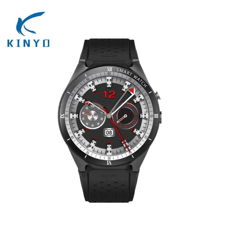 KINYO smart watch men WIFI nano SIM card Heart rate GPS watch wearable devices smart electronics kw88 pro smart watch pk sw007