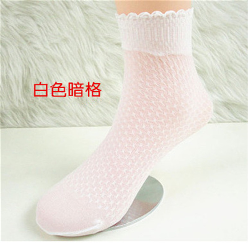 Fashion Free Shipping New 2019 Kids Socks For Children Summer Crystal Transparent Cotton Girls Flowers Lace Socks