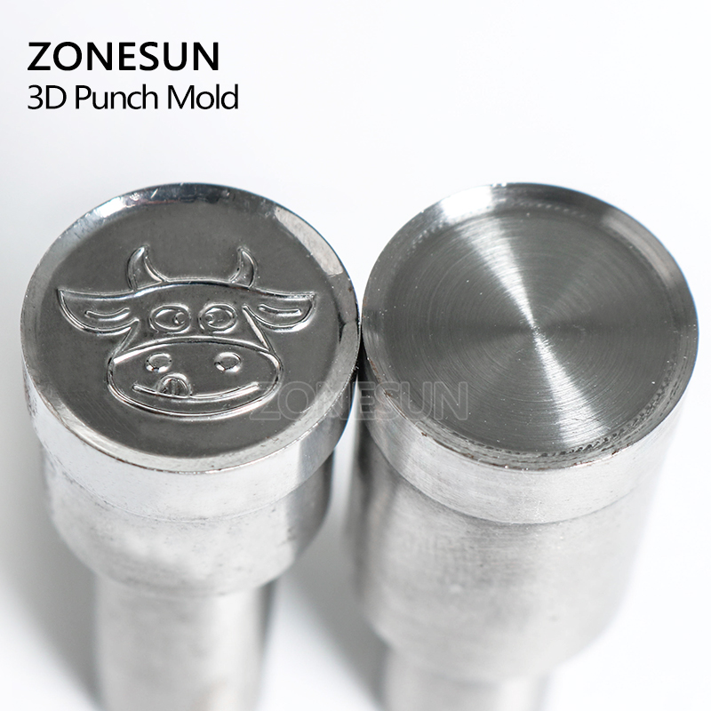ZONESUN Cow shape Tablet Press 3D Punch Mold Candy Milk Punching Die Custom Logo For punch die TDP 5 Machine Free Shipping cow milk of sodium carbonate decahydrate cosme cow 430ml