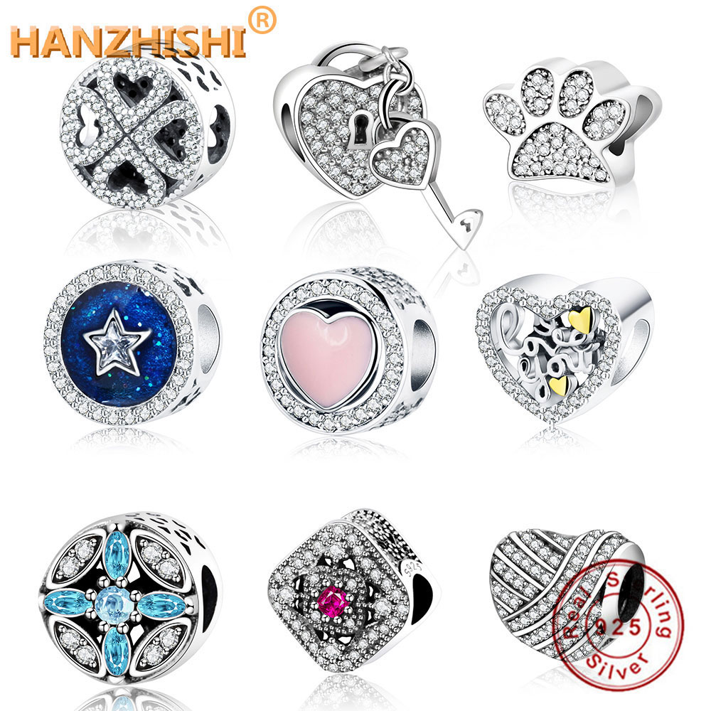 Fit Original Pandora Charm Armband Authentic 925 Sterling Silber Love Bead Charm DIY Schmuck Berloque New Valentinstag Geschenk