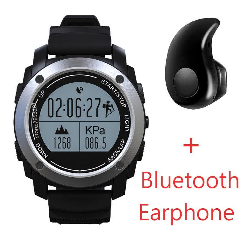 imágenes para Smarcent GPS Banda Inteligente Bluetooth Pulsera SmartBand Velocidad Perseguidor de La Aptitud Al Aire Libre Carrera de la Altura del Monitor de Ritmo Cardíaco Reloj En Marcha
