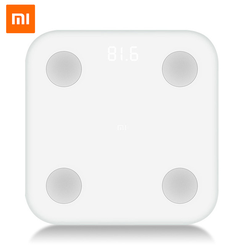 Original Xiaomi Mi Smart Body Fat Scale With Anti-Dust Case Body Monitor Mifit App Bluetooth Remote Control Weighting Scale 2