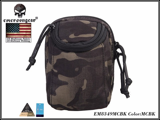 EmersonGear EDC Digital Camera Waist Bag Molle Military Airsoft Combat Gear Bag EM8349 Multicam Black