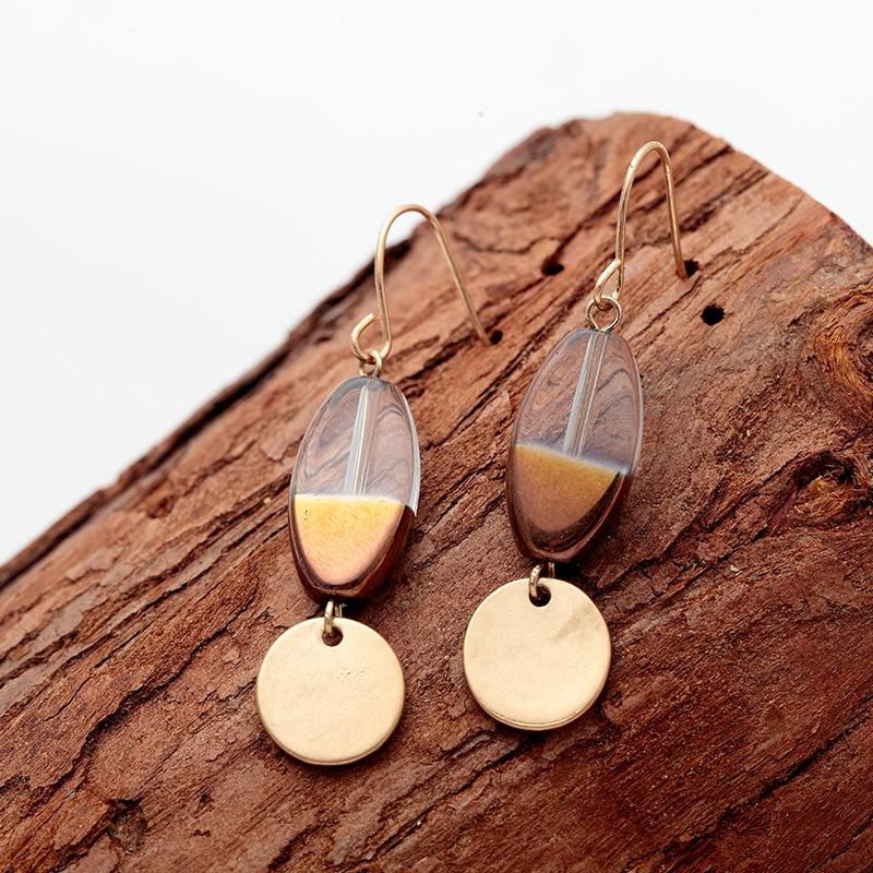 Vintage Glass Bead Pendant Earrings