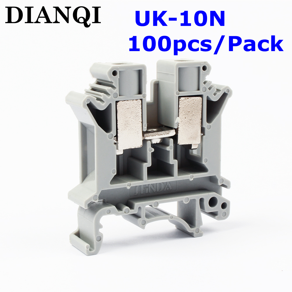 цена на UK-10N UK Series Universal Terminal Block Terminal Connector/Cable Connector/Wire Connector/Splice 100PCS/Pack