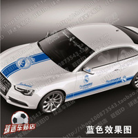 Real Madrid football team car stickers car stickers car door hood trunk rear view mirror reflective car stickers Real Madrid fan