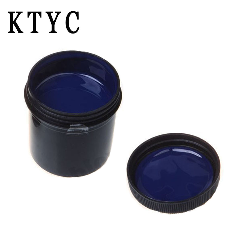 KTYC PCB UV photosensitive inks 100g Photoresist Anti-etching Blue Ink Paint For DIY PCB Dry Film Replacement new 220v photosensitive portrait flash stamp machine kit self inking stamping making seal holder film pad no ink