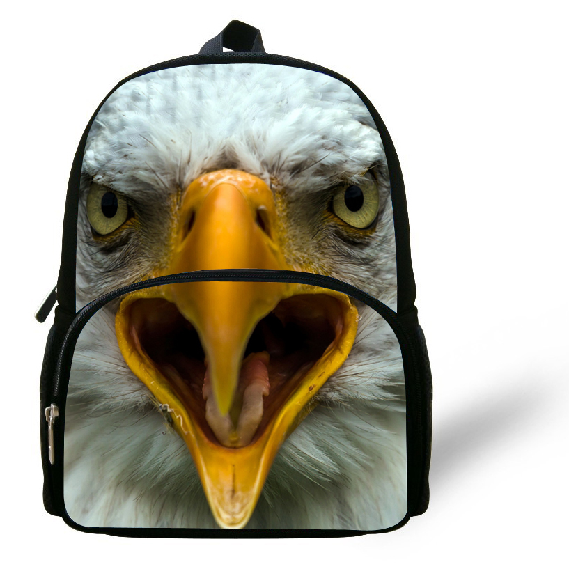 12 inch Kids Backpack Boys School Bags Animal Backpack Eagle Print ...
