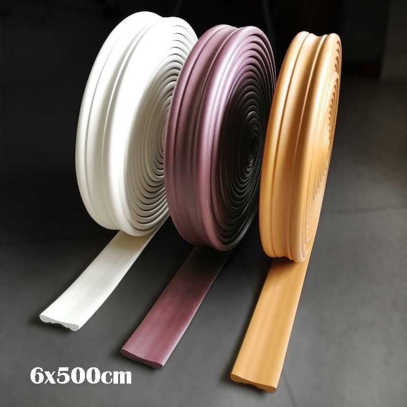Impermeable línea de cintura 5M de longitud Auto adhesivo sala de estar baño base papel pintado bordes 3D espuma pared pegatinas