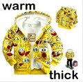 Crianças roupas de outono 2014 suéter de lã para crianças, meninos e meninas dos desenhos animados hoodies outerwear