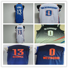 999d40ad9bc1 2019 New Men s  13 paul george 0 Russell Westbrook Throwback Basketball  Jersey Stitched Top Quality Size XXS-XXL
