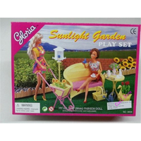 Miniature Furniture Sunlight Garden for Barbie Doll House Best Gift Toys for Girl Free Shipping