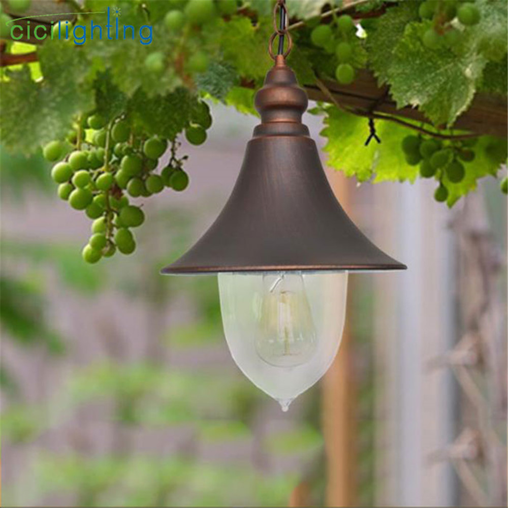 Vintage europe style outdoor pendant lights retro nordic speaker shade decor hanging lamp for gas station yard grape rack lightVintage europe style outdoor pendant lights retro nordic speaker shade decor hanging lamp for gas station yard grape rack light