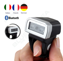 Free shipping!Handheld Mini Bluetooth Ring Finger CCD Barcode Scanner Reader For Android iOS 1D Bluetooth Barcode Scanner Reader