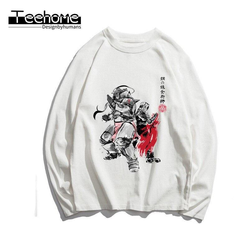 Men's Fullmetal Alchemist  Print Long Sleeve T-shirt Autumn Men and Women Full Sleeve Harajuku T Shirt Winter Streetwear