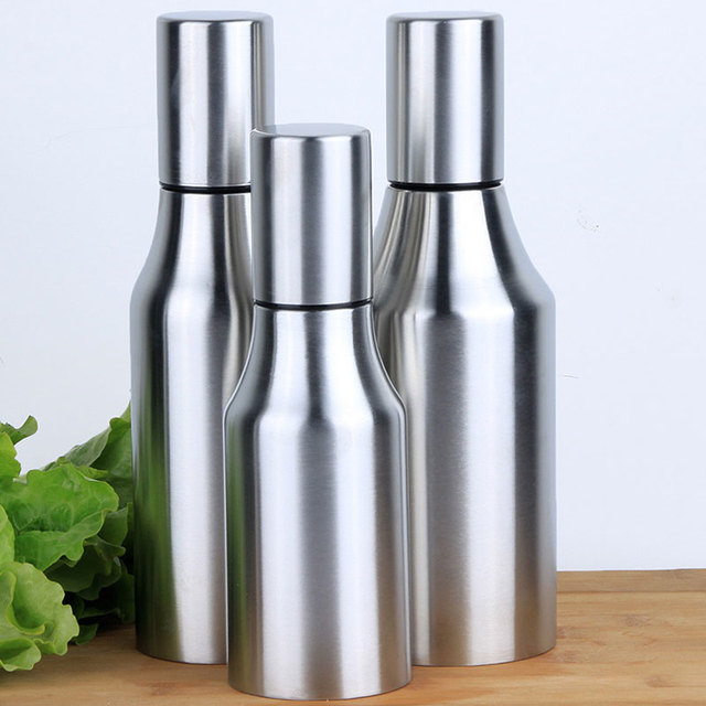 Kitchen Stainless Steel Olive Oil Dispenser Leakproof Bottle Oil Dispenser  Spout Can For Kitchen Measure Cooking
