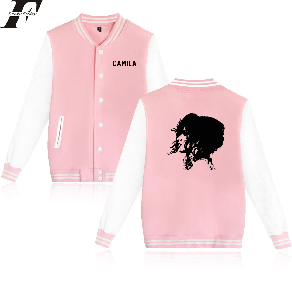 LUCKYFRIFAYF 2018 Camila Cabello Havana Printing Baseball Jacket Men/Women Uniform Fans Coat Jacket Long Streetwear College Coat