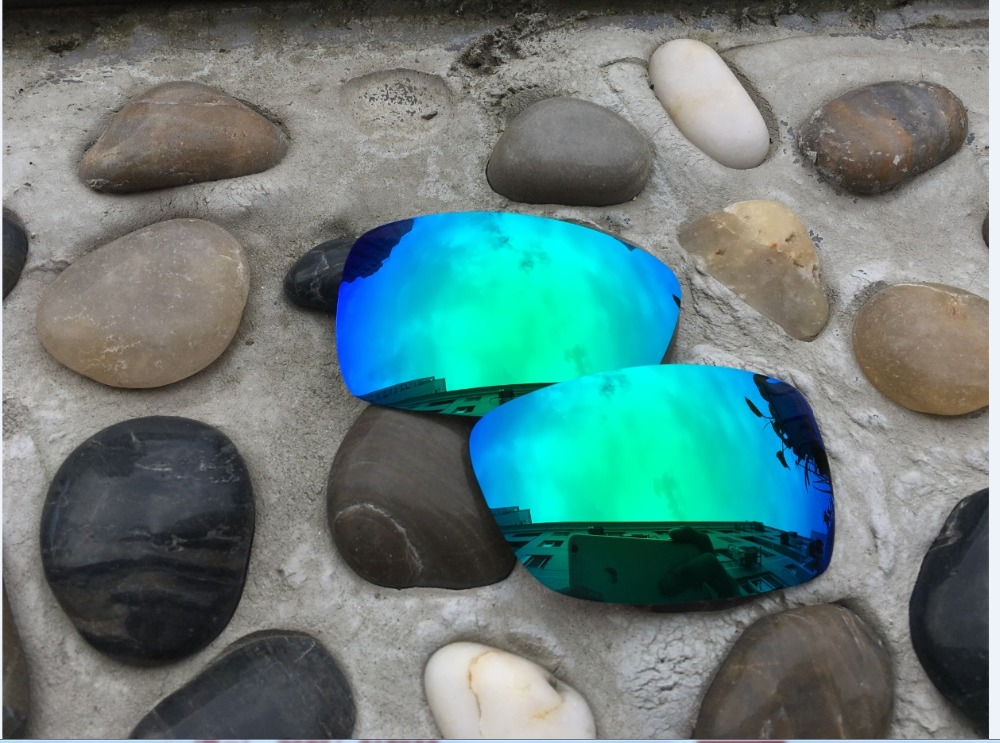 c2b2a08520 Hot Sale Jade Green Blue Color Replacement Polarized Lenses for Oakley Spike  Sunglasses 100% UVA   UVB-in Accessories from Apparel Accessories on ...