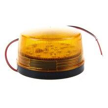 MOOL 12V güvenlik Alarm Strobe sinyal güvenlik uyarı mavi/kırmızı yanıp sönen LED ışık turuncu