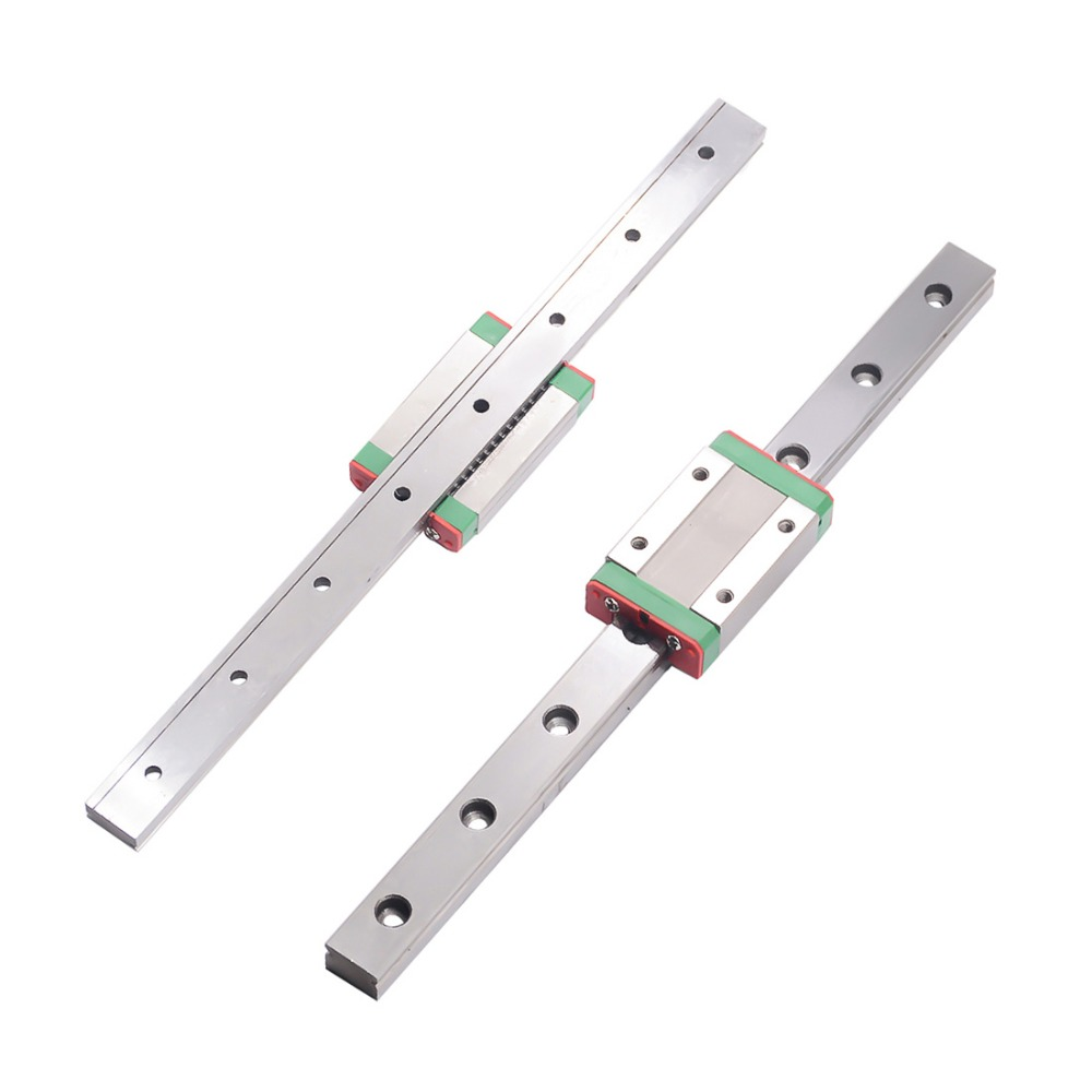 cnc parts MGN7 MGN12 MGN15 MGN9 <font><b>300</b></font> 350 400 450 500 <font><b>600</b></font> 800mm miniature linear rail slide 1pcMGN9 linear guide+1pcMGN9H carriage image
