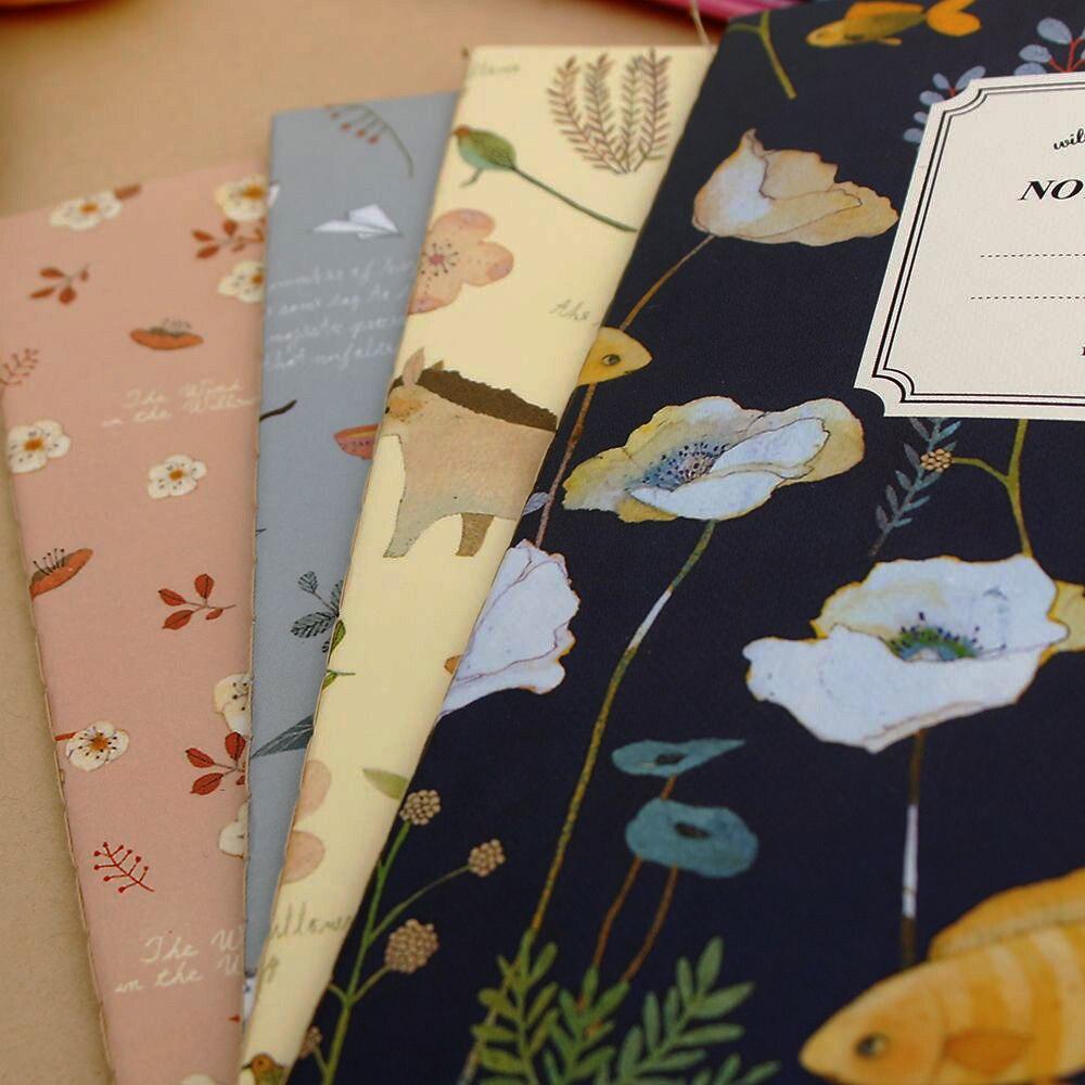 Hot 1 stks Leuke Natuur Dier Plant A5 Notebook 32 Pagina Notepad - Notitieblokken en schrijfblokken bedrukken - Foto 4