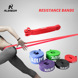 ALBREDA NEW Fitness Band Gym Equipment Expander Resistance Rubber Band Workout Resistance Rope Exercises Pull Up Strengthen