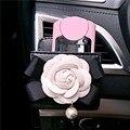 Nuevo Estilo de Corea Del Coche Soporte para Teléfono Móvil Caja de Almacenamiento Organizador Flor de La Camelia Del Teléfono Del Coche de Ventilación de Aire Accesorios Para Mujeres Niñas