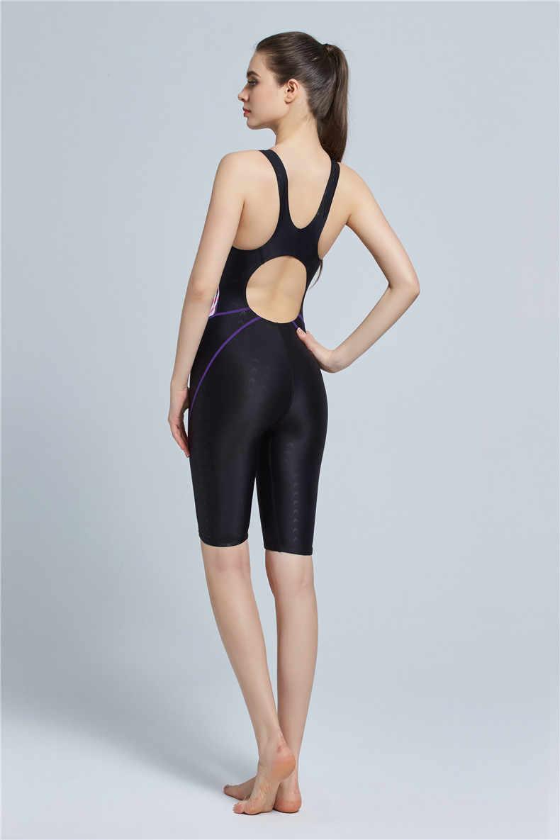 a8da7c1fedd20 ... Quick Dry Swimwear Professional Knee Length Swimsuit Women One Piece  Sport Bathing Suit Rash Guard Surf