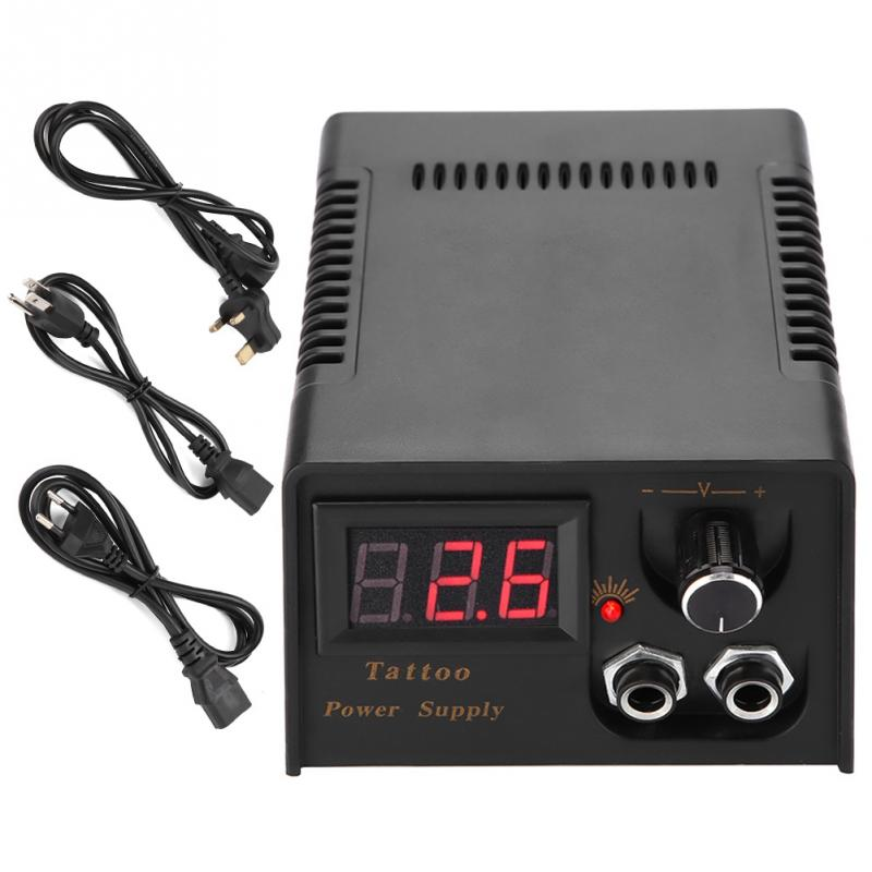 Professional Digital LCD Tattoo Power Supply High Quality Black Tattoo Power Supply For Tattoo Machine gun Free Shipping high quality professional mini power supply dual output power supply for tattoo machine tattoo gun free shipping supply