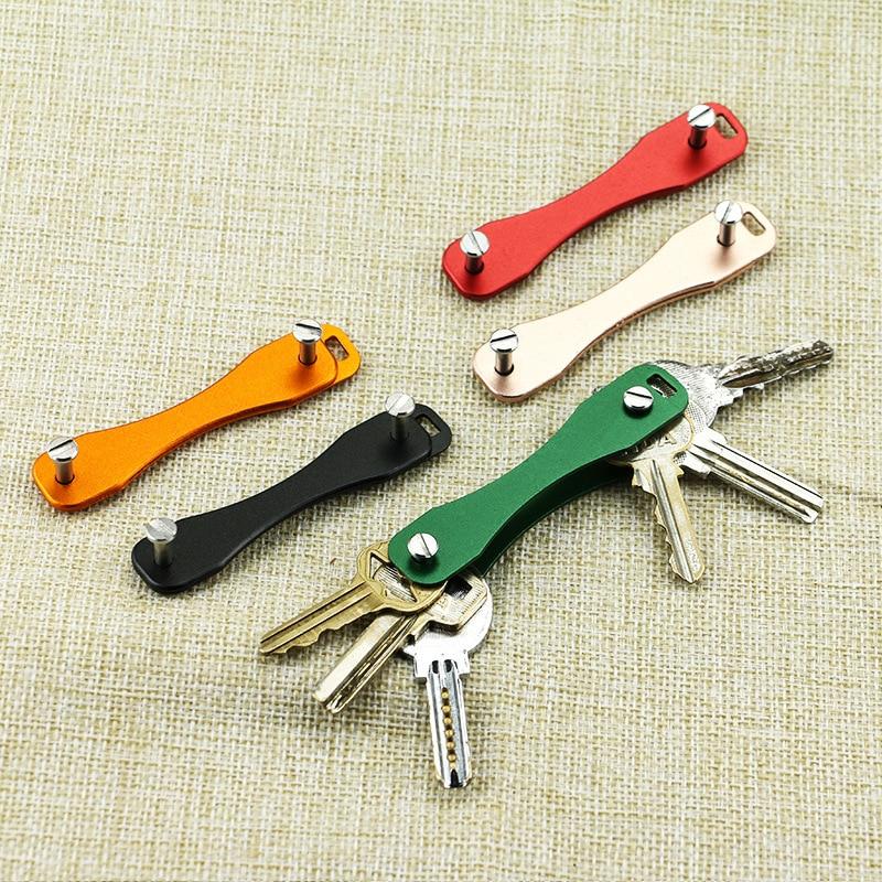 DIY EDC Pocket Key Organize Smart Key Ring Wallets Metal Car Keys Holder Collector Housekeeper Keychain Ring Tool