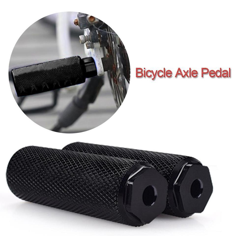 2X Bike Pedals Aluminum Alloy Axles BMX  Pedal Bicycle Stunt Foot Peg  ^F