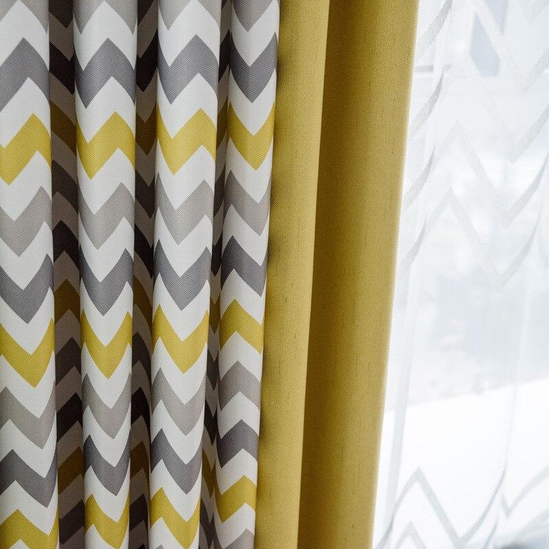 Cortinas para sala de estar amarelo despojado byetee personalizado quarto cortinas para janela decoração casa cortinas
