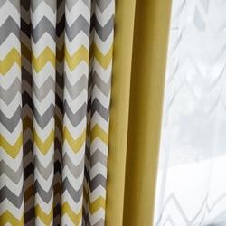 Cortinas para sala de estar con rayas amarillas, Cortinas de dormitorio personalizadas para Cortinas de ventana, Cortinas decorativas para el hogar